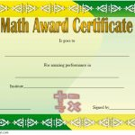 Math Award Certificate Template 3