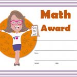 Math Award Certificate Template 4