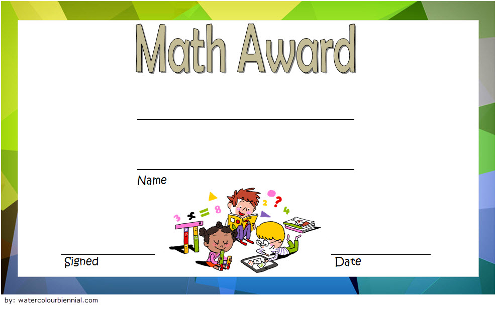Math Award Certificate Template 5