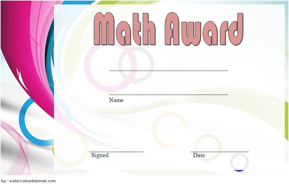 Math Award Certificate Template 6