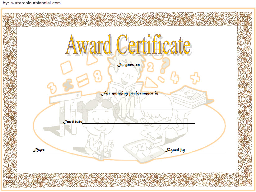 Math Award Certificate Template 7