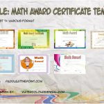 Math Award Certificate Templates By Paddle