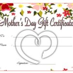 Mother's Day Gift Certificate Template 9