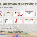 Mother's Day Gift Certificate Templates By Paddle