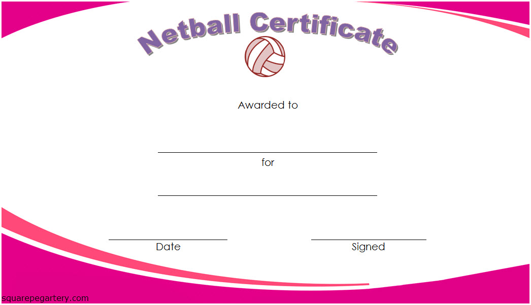 Netball Certificate Templates - 10+ Great Template Designs