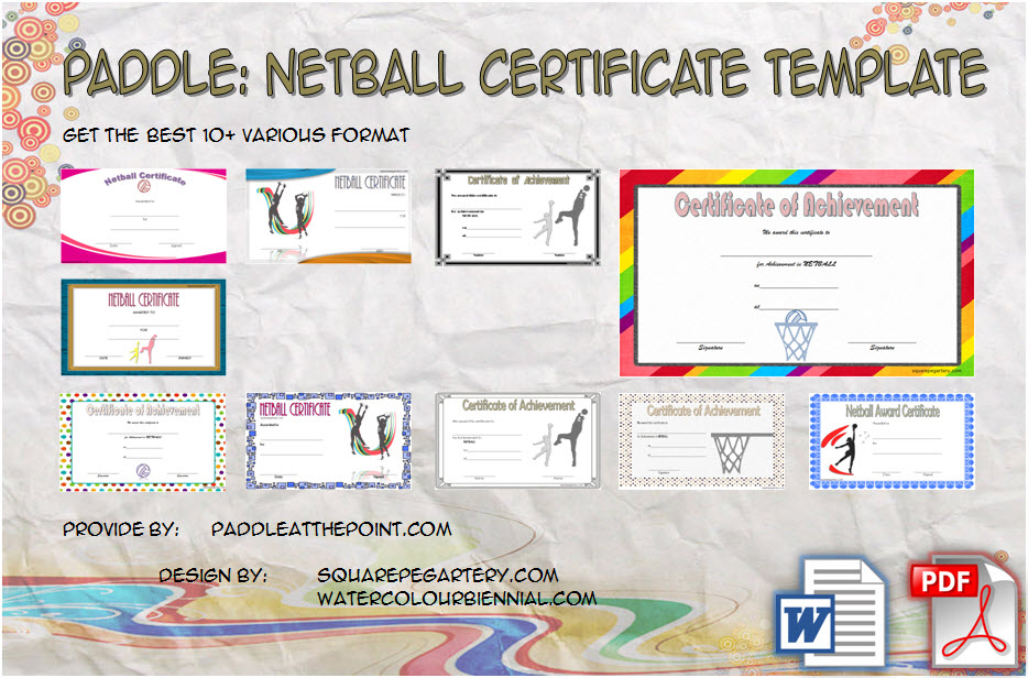 Download 10+ best ideas of Netball Certificate Templates for students as sports award categories, participation, athletic achievement free!