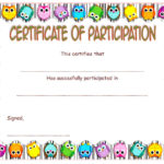 Participation Certificate Template 4