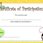 Participation Certificate Template 5