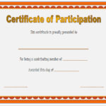 Participation Certificate Template 6