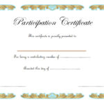 Participation Certificate Template 7