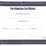 Participation Certificate Template 9