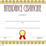 Perfect Attendance Certificate Template 1