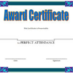 Perfect Attendance Certificate Template 4