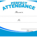Perfect Attendance Certificate Template 5