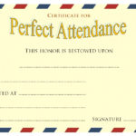 Perfect Attendance Certificate Template 9