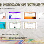 Photography Gift Certificate Templates By Paddle