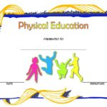 Physical Education Certificate Template 1