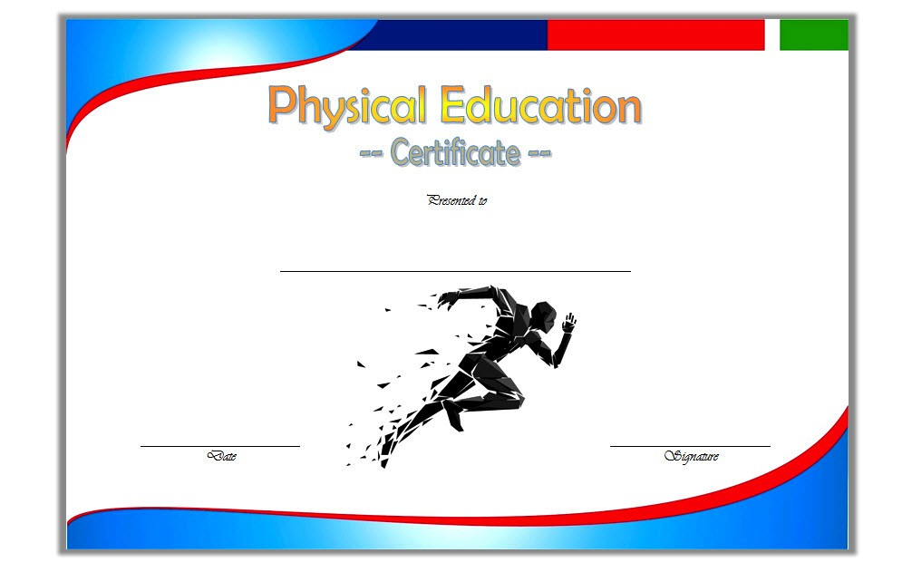 Physical Education Certificate Template 2