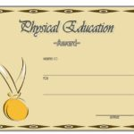 Physical Education Certificate Template 4