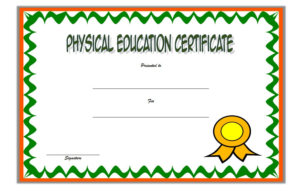 Physical Education Certificate Template 5