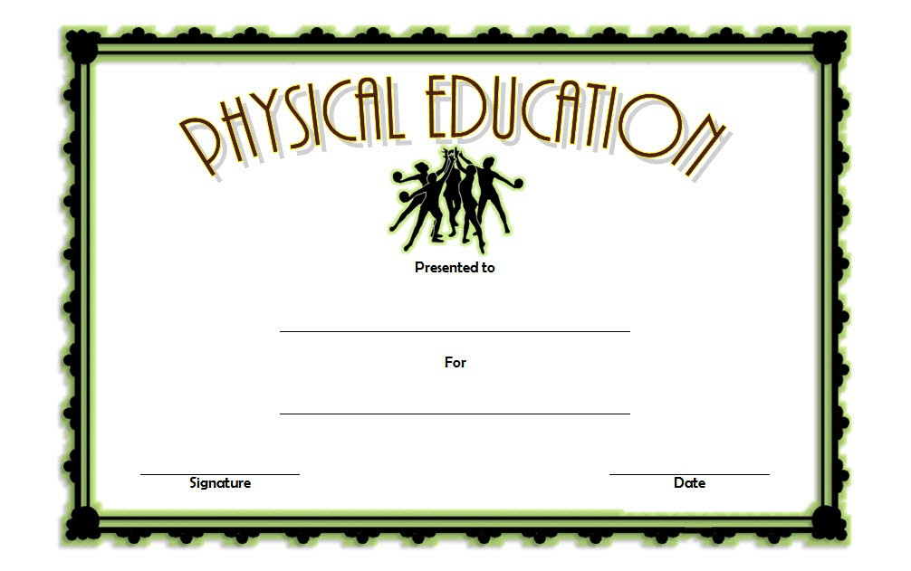 Physical Education Certificate Template 6