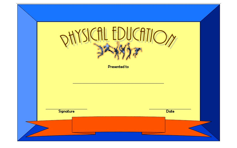 Physical Education Certificate Template 7