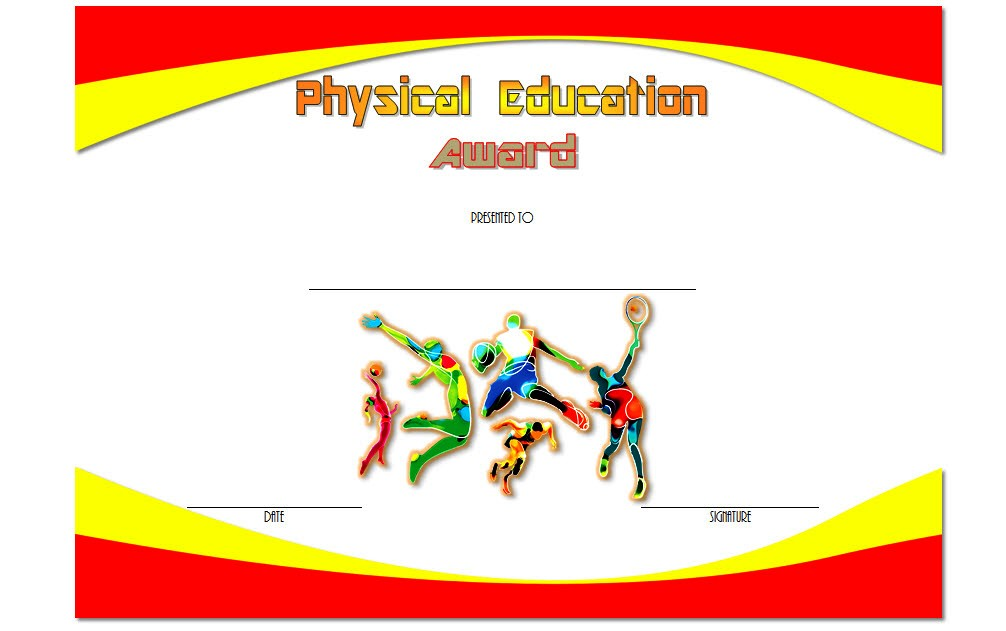 Physical Education Certificate Template