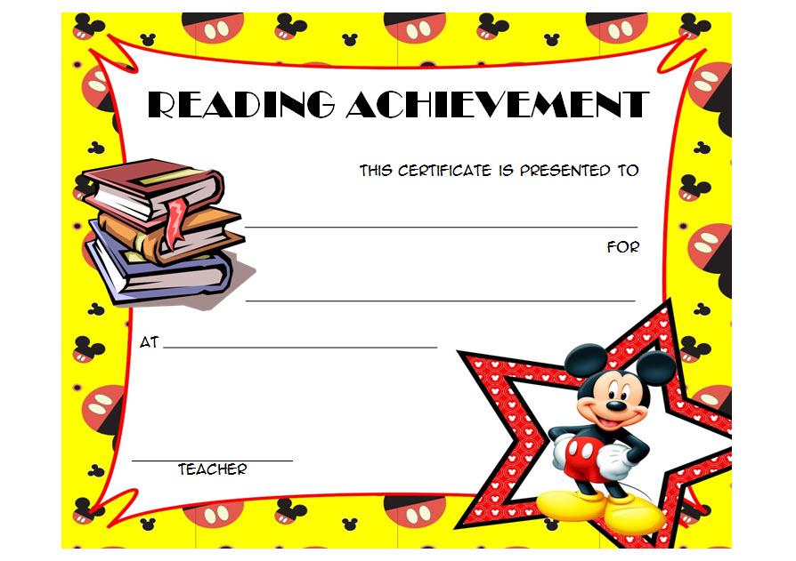 Reading Achievement Certificate Template 2