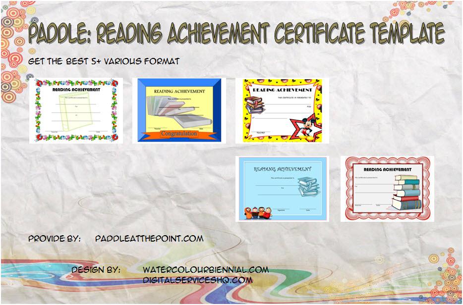 Reading Achievement Certificate Templates Paddle