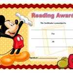 Reading Award Certificate Template 1