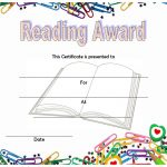 Reader Award Certificate Templates