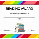 Reading Award Certificate Template 2