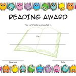 Reading Award Certificate Template 3