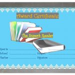 Reading Award Certificate Template 4