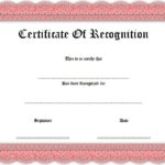 Recognition Certificate Editable 1