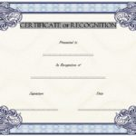 Recognition Certificate Editable 2