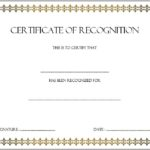 Recognition Certificate Editable 8