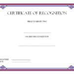 Recognition Certificate Editable 9