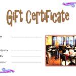 Restaurant Gift Certificate 5