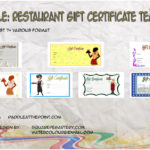 Restaurant Gift Certificates Printable By Paddle