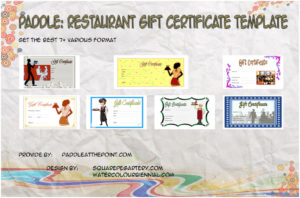Restaurant Gift Certificates Printable
