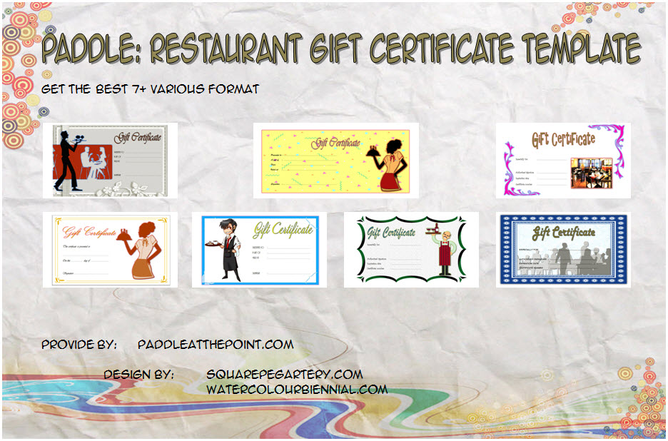 photo about Printable Restaurant Gift Cards identified as Cafe Present Certificates Printable - 7+ Template Options
