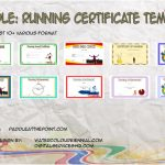 Editable Running Certificate Templates