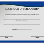 Scholarship Certificate Template – 10+ Best Design Awards