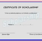 Scholarship Award Certificate Template 4