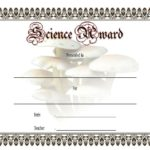 Science Award Certificate Templates