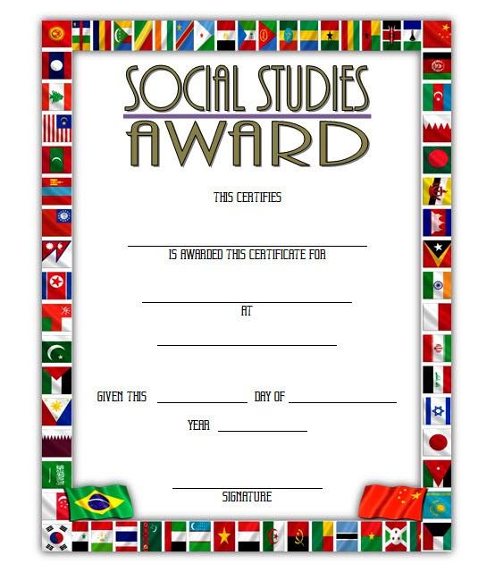 Social Studies Certificate Template 5