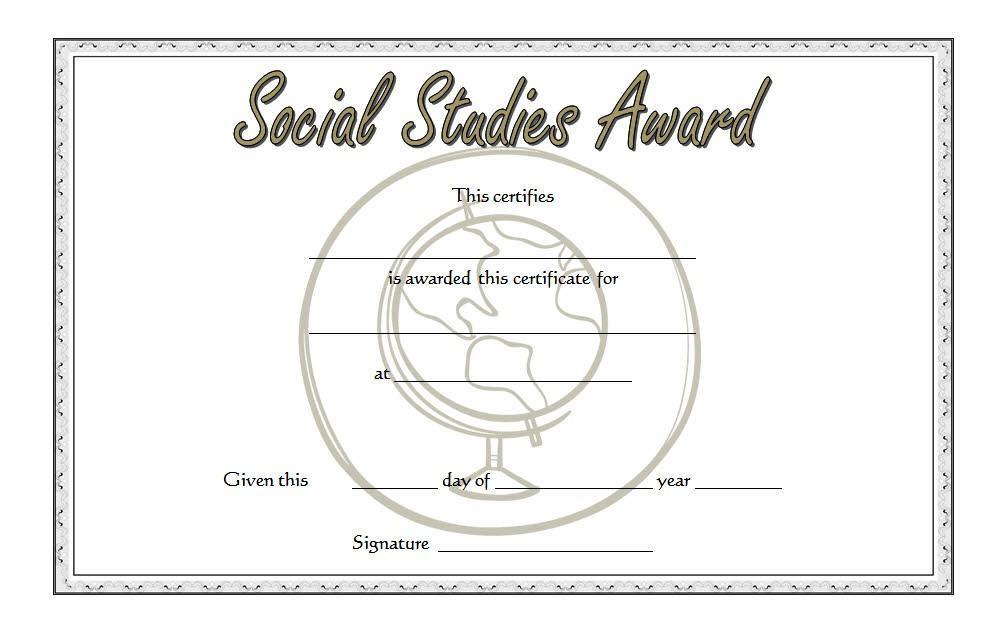Social Studies Certificate Template 6