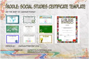 Social Studies Certificate Templates