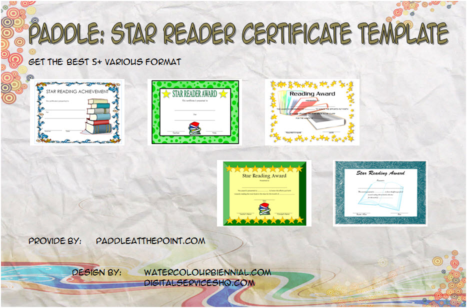Download 5+ Best Ideas of Star Reader Certificate Template for an achievement, award, accelerated, most improved students, summer reading with many formats!